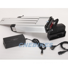 36V 10ah Ebike Rack Type Li-ion Lithium Battery with Charger