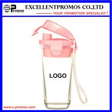 Neuer Entwurfs-Glasbecher mit Plastikdeckel für Großverkauf (EP-LK57272)