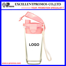 Кружка нового дизайна стеклянная с пластиковой крышкой для оптовой продажи (EP-LK57272)