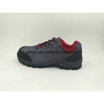 Camurça couro deoposição segurança borracha sapatos sapatos ao ar livre (16067)