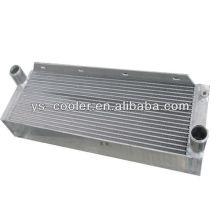 Placa de aluminio aleta tipo refrigerador de aire para compresor de pistón, enfriador de aire hidráulico