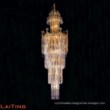Contemporary Decorative Lighting Stair Crystal Chandelier Pendant Light Hanging Lamp