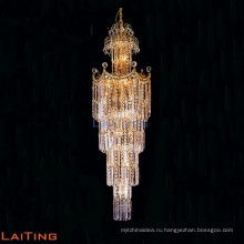Современный оптовая Гуанчжоу стеклянный кристалл лестница люстра 9075