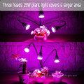 LED-Anlage wachsen Licht drei-Kopf 15W Clip Schreibtisch voller Spektrum wachsen Lampe mit 360 Grad flexiblen Schwanenhals
