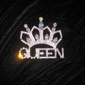 Crystal QUEEN Crown Sash Pins Pageant Pins