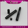 SRS wholesale roll on sealing type black 6ml empty plastic eye cream container, luxury airless massage roller bottle