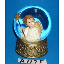 Christmas Decoration Gold Angel Snow Globe