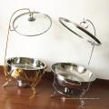 Servidor Buffet de acero inoxidable Calentador de comida / Hot Pot plato de frotamiento