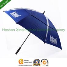 Double couche grand parapluie de Golf pour la publicité (GED-0027FDA)