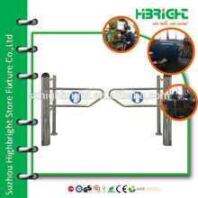 Cylindrical Standards Manual factory sale Supermarket Swing Gate