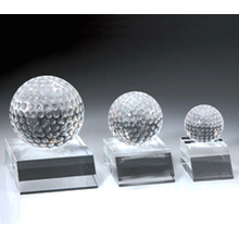 New design crystal award trophy with golf ball