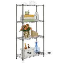 Chrome Home Decorate Storage Wire Shelf (LD7535180A4C)