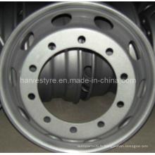 9.00X22.5 roues en acier populaires pour camions