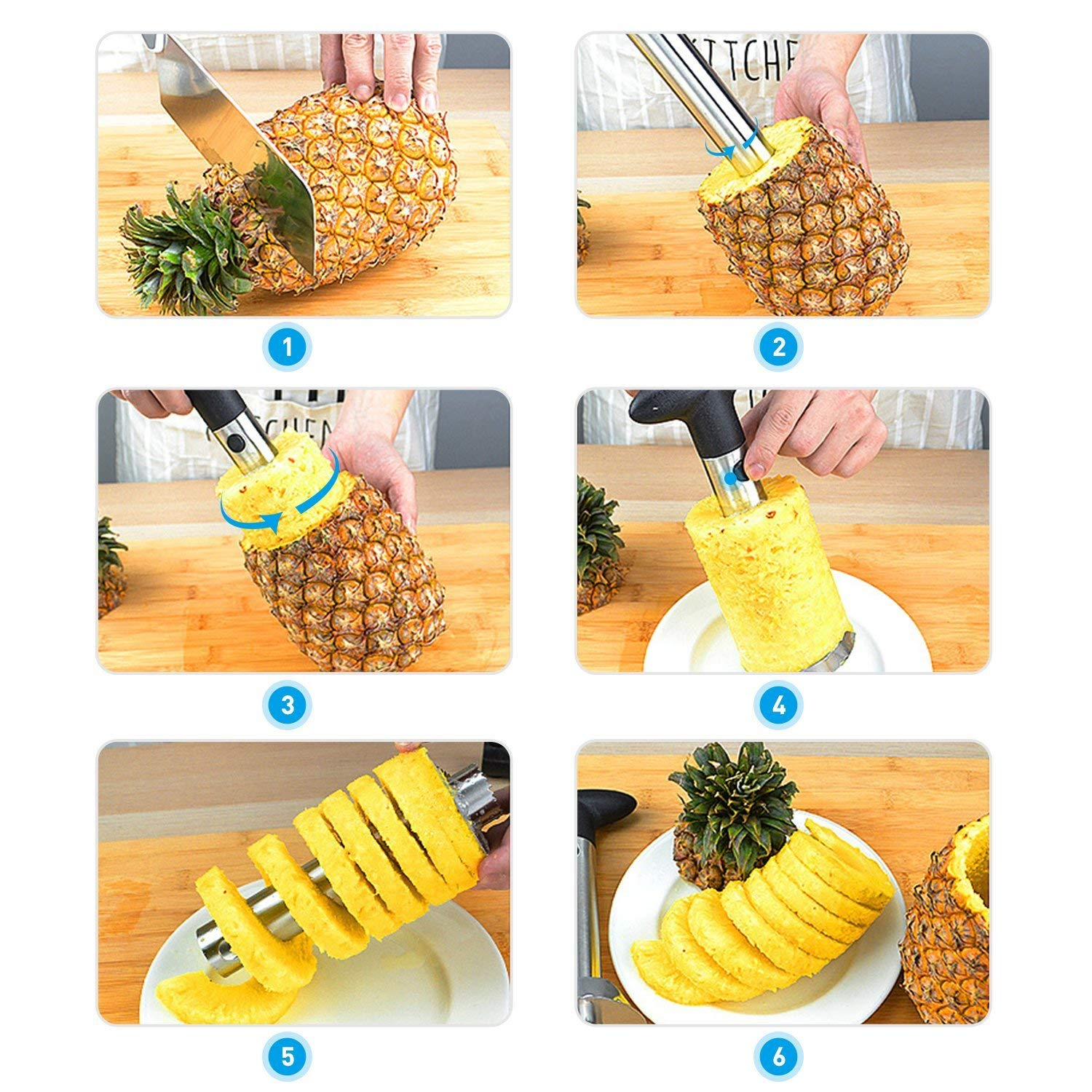 pineapple corer slicer cutter peeler