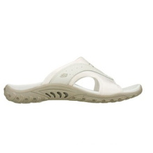 Smooth Leather and Soft Fabric Sporty Slide Sandals