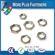Fabriqué en Taiwan DIN 936 Confiture hexagonale à gousset en acier inoxydable Nylon Insert Lock Nut