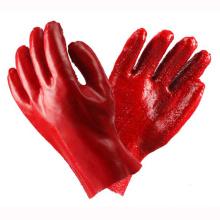 Protegiendo los guantes rojos revestidos del PVC con CE Certifiate