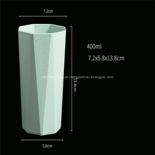 Forma de octógono Copo plástico colorido Copo degradável