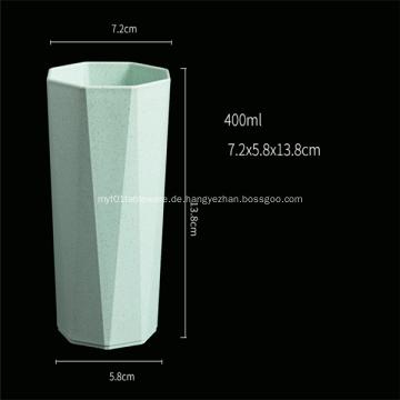 Achteckige Form Bunter Plastikbecher Abbaubarer Becher