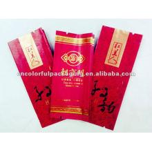 Bolsa de empaquetado de té desechable compuesta de plástico de papel