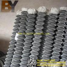 Montage de poteau de clôture de maillon de chaîne en métal de diamant
