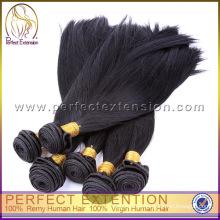 armadura del pelo recto brasileño barato, bollo de pelo negro brasileño