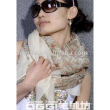 Damen merzerisierte Wolle (80 Stück Garn) Cashew Print quadratischen Schal