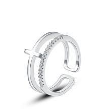 Anillo de compromiso del diseño de la manera, anillo de plata 925, anillo de diamante