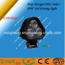 Poder más elevado 30W, lámpara brillante estupenda del trabajo del LED, prenda impermeable IP67