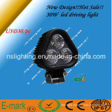 High Power 30W, Super Bright LED Work Lamp, Waterproof IP67