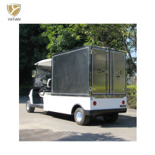 Two Person Street Cargo Car Golf Cart, Motorized Utility Cart with Manual Lifted Box