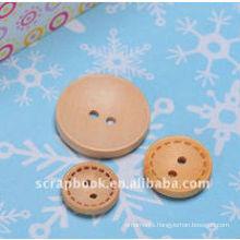 round decoration wooden button