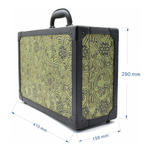 New Professional Tool Box Small Green Beauty Salon Plastic Case Storage Suitcase for Hairdresser