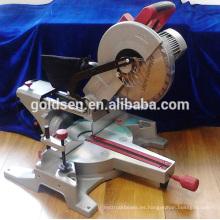1800w baja potencia profesional de ruido de aluminio / máquina de corte de madera portátil eléctrica 305mm Silent Motor Mitre Saw
