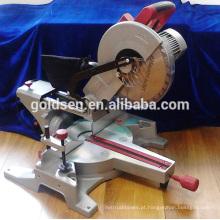 Máquina de corte de alumínio / madeira de baixo poder profissional do ruído 1800w Máquina de corte mecânica portátil de 305mm Silent do motor