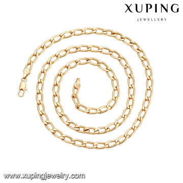 43549 XUPING latest gold jewelry design 18k simple copper alloy jewelry necklace