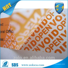 Factory price Self Adhesive Tamper Proof VOID Sticker of China National Standard