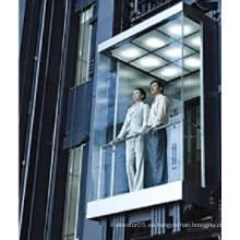 Ascensor cuadrado panorámico con cabina elevadora de vidrio