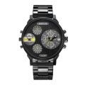 Fashion Multifunction Wristwatch Steel Bracelet Watch for Men