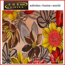 100% Polyester Knitted Fabric Printing Velvet Curtain Fabric (EDM0423)