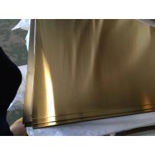 Feuilles de couleur SS 304 NO.4 GOLD PVD