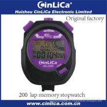 HS-2200 profissional pocket digital cronômetro plástico com 3 linhas