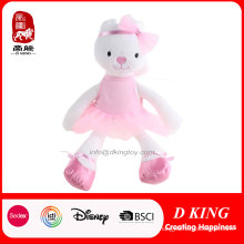 """16"""" Long-Legs Lady Rabbit Doll with Pink Skirt"""