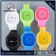 Reloj de encargo del silicón de la jalea de la moda, reloj lindo del silicio del caramelo (DC-1318)