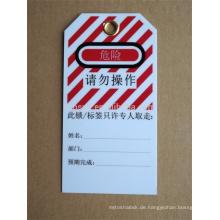 Genehmigen CE-Länge 1.8m und Kabeldurchmesser 5mm ABS-Verschluss-Tags