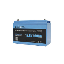 Polinovel Blue100 Li-ion 12v 100ah Lifepo4 Lithium Battery Pack For RV Solar System Boat