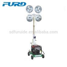 Torre de iluminación de remolque de 5000 vatios con generador de gasolina (FZM-1000B)