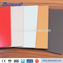 Alto panel interior compuesto de aluminio brillante de la textura del metal de la decoración