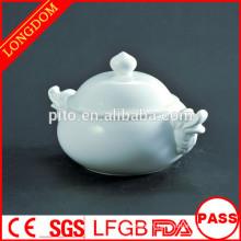 2014 hot sale hotel restaurant dragon head holder porcelain soup bowl
