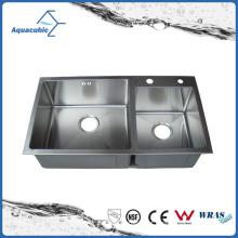 Lavatório de aço inoxidável moderno feito à mão (AS8245R)